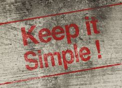 39018311 - keep it simple concept text is painted on old fashion wall.